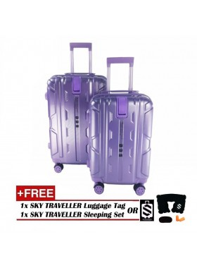 2-in-1 New Generation 8-Wheels Premium Luggage - Purple