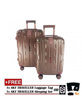 2-in-1 New Generation 8-Wheels Premium Luggage - Rose Gold