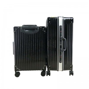 2-In-1 Esquisite Classical Luggage Set - Black