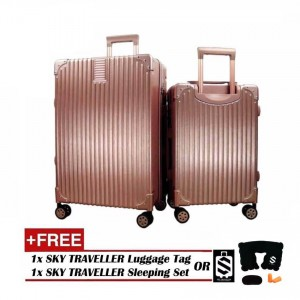 2-In-1 Esquisite Classical Luggage Set - Rose Gold