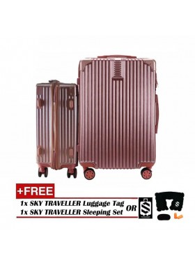 2-In-1 Premium Ultralight Vintage Style Luggage Set - Rose Gold
