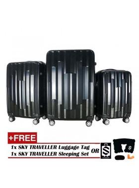 Vogue 3-In-1 Fancy Design Luggage Set - Black