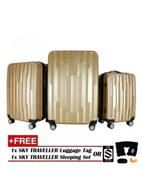 Vogue 3-In-1 Fancy Design Luggage Set - Gold