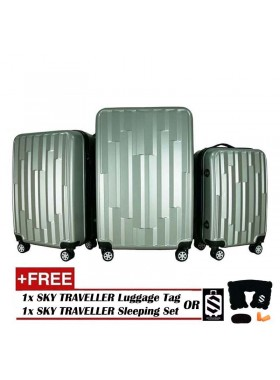 Vogue 3-In-1 Fancy Design Luggage Set - Silver
