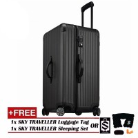 Vogue Oversize Luggage Spinner Rolling With 8 Wheels (28Inch) - Black