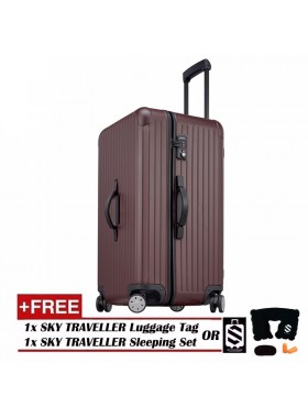 Vogue Oversize Luggage Spinner Rolling With 8 Wheels (28Inch) - Maroon