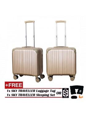 Retro Trolley Case Boarding Box Trunk Box Ultra-light Luggage Password Lock 18Inch - Gold