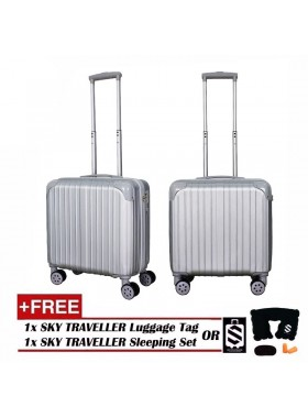 Retro Trolley Case Boarding Box Trunk Box Ultra-light Luggage Password Lock 18Inch - Sliver