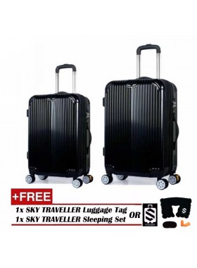 2-In-1 Premium Ultralight Luggage Set - Black