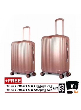 2-In-1 Premium Ultralight Luggage Set - Rose Gold