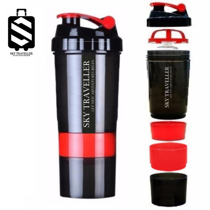 Protein Shaker Dw Sports: Fitness Sports Protein Shake Bottle Mixing Powder Blender